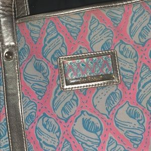 Lilly Pulitzer tote in cosmo pink a little tipsy